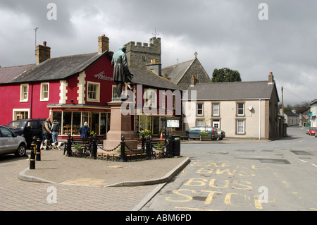 Statue Town Centre Tregaron Ceredigion West Wales - Stock Photo