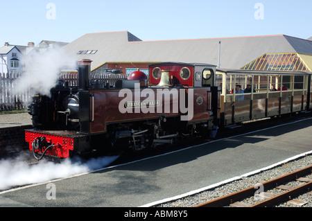 Aberystwyth Station Vale of Rheidol Railway Aberystwyth to Devil s Bridge Steam Railway Ceredigion West Wales - Stock Photo