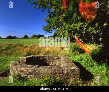 Horizontal, colour picture of the Virtuous Well in Trellech, Monmouthshire, South Wales. - Stock Photo