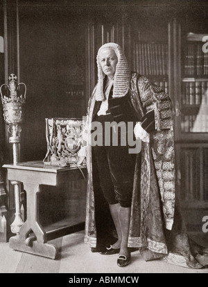 Lord Richard Burdon Sanderson Haldane 1st viscount Haldane 1856 to 1928 British liberal and labour politician - Stock Photo
