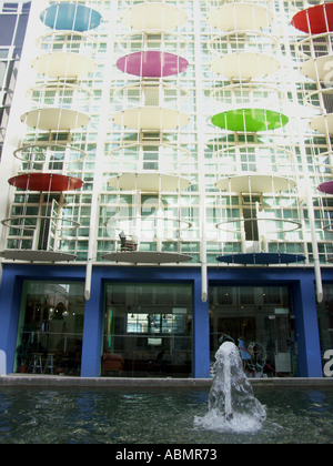 The Custard Factory in Birmingham Uk is a revolutionary new arts and media quarter It is a 5 acre bohemian inner - Stock Photo