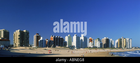 Beaches and hotels of Punta del Este in Uruguay - Stock Photo