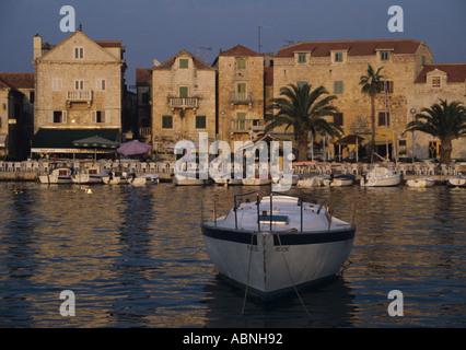 The township of Supetar on the island of Brac Croatia - Stock Photo