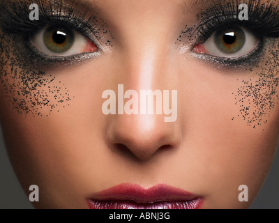 Close-Up of Young Woman's Face - Stock Photo
