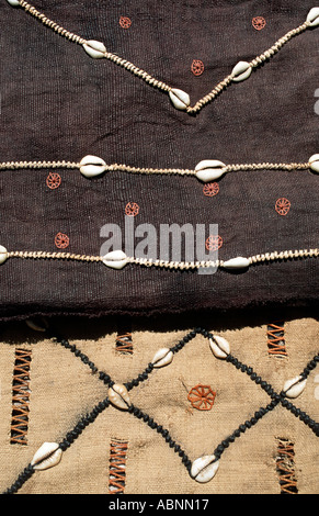 A selection of woven raffia textile from The Democratic Republic of Congo DRC formerly known as Zaire From the Kuba - Stock Photo