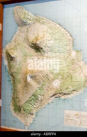 Big Island Hawaii map Stock Vector Art  Illustration Vector