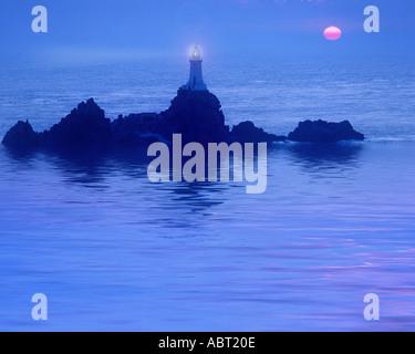GB - JERSEY: La Corbiere Lighthouse - Stock Photo