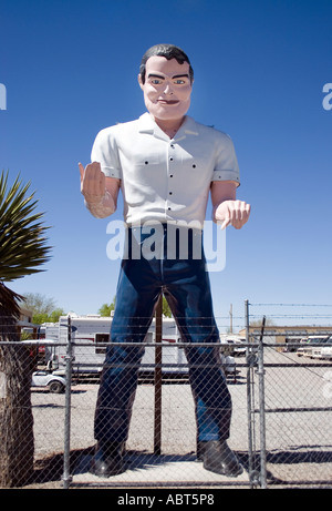 Old Muffler Man statue at an RV lot in Hatch New Mexico - Stock Photo