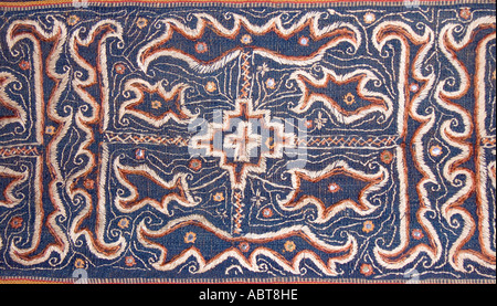Detail of Tapis skirt from the Lampung region of Sumatra Indonesia Paminggir or Abung people Southeast Asia - Stock Photo