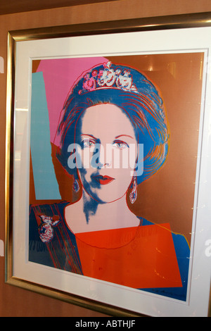 New York Atlantic Ocean Holland America Line ms Noordam art Queen Beatrix Netherlands Andy Warhol print - Stock Photo