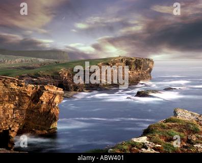 GB - ORKNEY: Coastline at Yesnaby on Mainland - Stock Photo