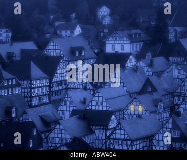 DE - NORTH RHINE WESTPHALIA: Freudenberg by night - Stock Photo