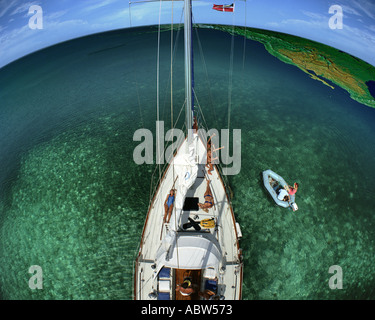 BH - THE BAHAMAS: Sailing the World - Stock Photo