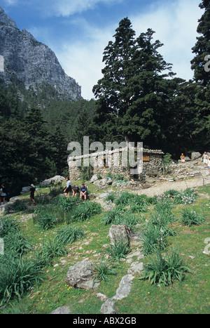 Greece Kreta Samaria Schlucht Ravine Gorge Valley - Stock Photo
