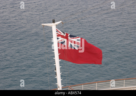 Red Ensign flag on mast - Stock Photo