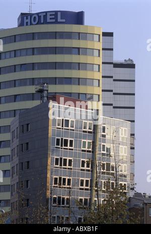 Berlin, Stresemannstraße, sozialer Wohnungsbau von Z. Hadid, - Stock Photo