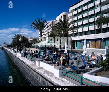 Spanien Spain Lanzarote Arrecife Promenade - Stock Photo