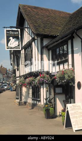 The Swan Hotel High Street Lavenham Suffolk England - Stock Photo