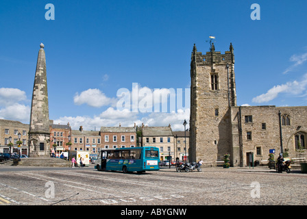 Market Square at Richmond North Yorkshire UK - Stock Photo