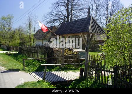 Zagroda Guciow open air museum Poland - Stock Photo