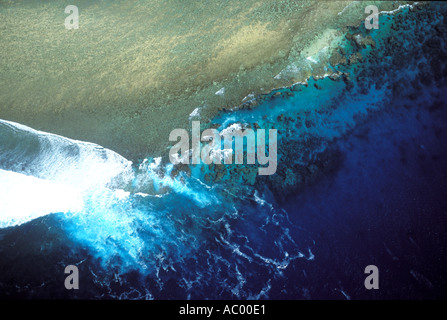 Aerial view Lady Elliot Island in the Great Barrier Reef Australia - Stock Photo