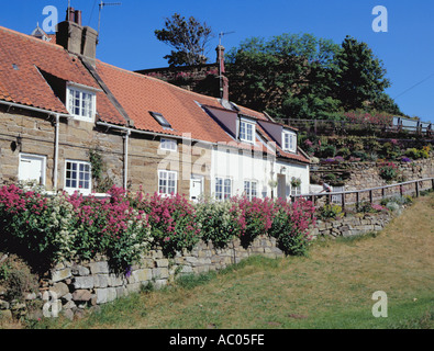 Village At Sandsend North East Uk Stock Photo Royalty