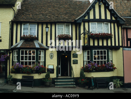 The Greyhound Pub In Lavenham in Suffolk in the uk - Stock Photo