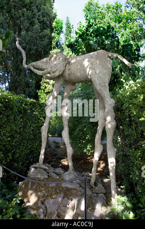 Elephant in the garden of the Salvador Dali museum Gala Castle in ...