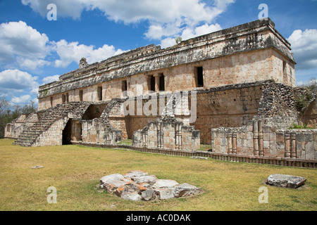 El Palacio, The Palace, Kabah Archaeological Site, Kabah, near Uxmal, Yucatan State, Mexico - Stock Photo