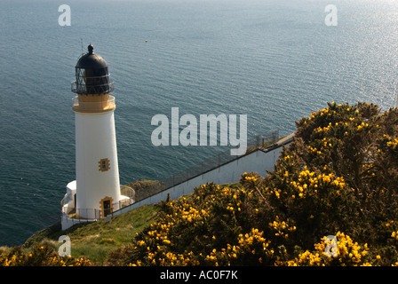Lighthouse At Maughold Head IOM - Stock Photo