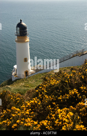 The Lighthouse At Maughold Head IOM - Stock Photo