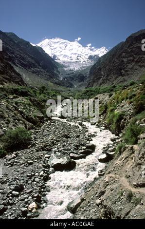 Pakistan Azad Kashmir Mt Rakaposhi 7788m - Stock Photo