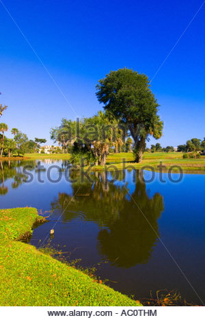 The Nineth Hole of the Links Golf Course Wild Dunes Island Resort Isle of Palms near Charleston South Carolina - Stock Photo