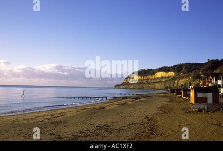 Isle of Wight Shanklin beach - Stock Photo