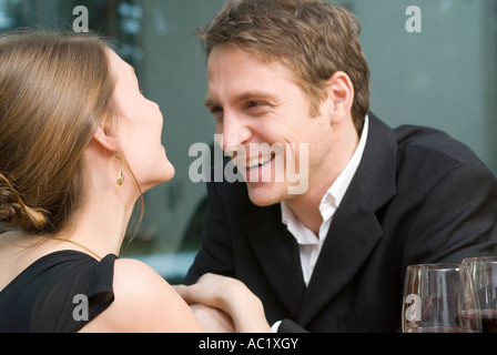 Couple in love laughing happily - Stock Photo