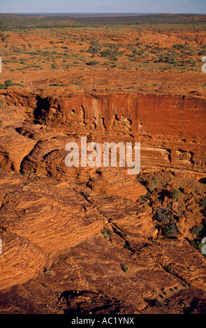 Sandstone and domes, Watarrka (Kings Canyon) National Park, Northern Territory, Australia, vertical, - Stock Photo