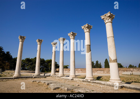 Group of ionic columns of the temple Asklipieion Kos Town Kos Greece