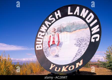 Burwash Landing at Kluane Lake, Yukon Territory, Canada - World's Largest Gold Pan, Roadside Attraction, Klondike - Stock Photo