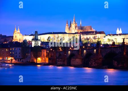 Travel photography from Czech republic Prague Praha Praag Praga Prag Prague Castle Prazsky hrad St Vitus Cathedral - Stock Photo