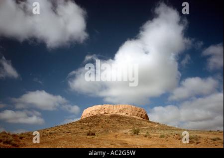 Zoroastrian Tower of Silence at Chilpyk (Karatou) near the Uzbek town of Nukus in Karalkapakstan. - Stock Photo