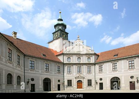 Residenz courtyard Brunnenhof, Munich, Bavaria, Germany - Stock Photo