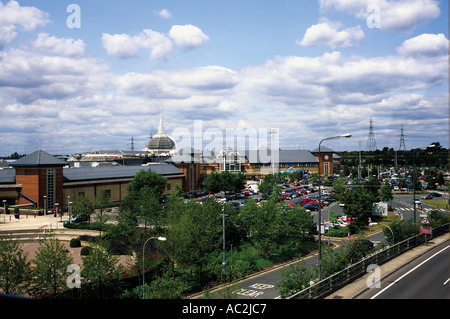 shopping complex near Thurrock Essex just off the M25 - Stock Photo