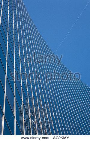 Curtain wall of Ontario Power Generation building on University Avenue in Toronto Ontario Canada - Stock Photo
