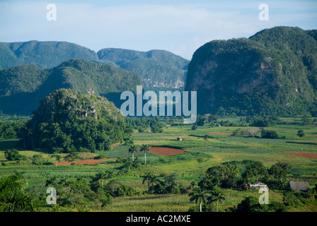 Cuban countryside in the Vinales Valley, Cuba. - Stock Photo