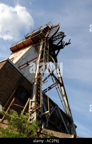 Coal mining headstocks. - Stock Photo