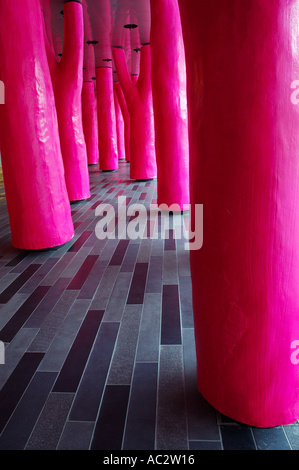 Pink forest at the Palais des Congres Montreal - Stock Photo