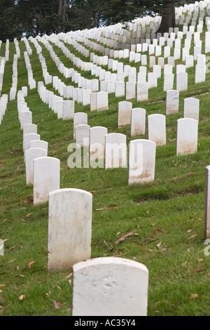 San Francisco National Cemetery in the Presidio of San Francisco Golden Gate National Recreation Area California - Stock Photo