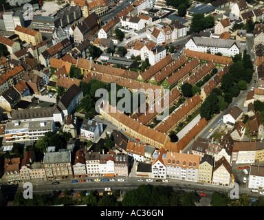 Augsburg, Fuggerei first build beteewn 1514 and 1523, Germany, Bavaria, Augsburg - Stock Photo