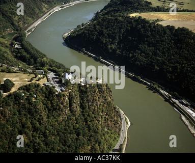 Loreley at Rhine river, Germany, Rhineland-Palatinate, Goarshausen - Stock Photo