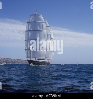 Superyacht Cup Palma 2007 - Maltese Falcon Super Sailing Yacht ( 88 metres long designed by Dijkstra and built in - Stock Photo